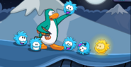 Blue puffles saved
