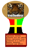 Tigernoseaward