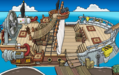 Rockhopper's Quest Migrator docked at Swashbuckler Trading Post