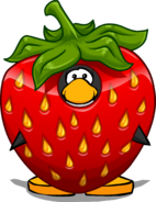 Strawberry Costume on a Player Card
