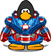 Iron Patriot Armor from a Player Card