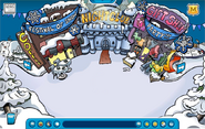 Town during Festival of Snow