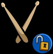 Drumsticks unlockable icon