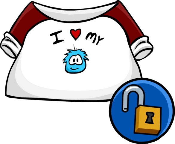 File:I Love My Puffle T-Shirt clothing icon ID 10205.PNG