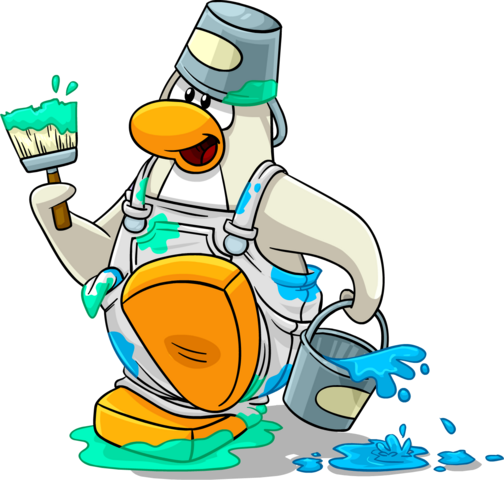 File:Penguin Style color page arctic white penguin.png