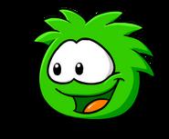 Green PuffleLookingLeft