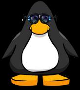 Rhinestone Sunglasses on a Player Card