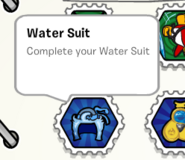 Water suit stamp book