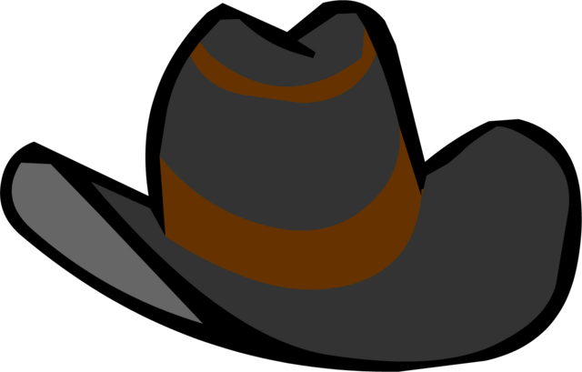 File:Black Cowboy Hat clothing icon ID 433.png