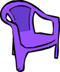 Purple Plastic Chair