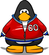 Red Track Jacket from a Player Card