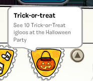 Trick-or-treat stamp SB