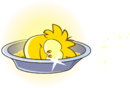 Gold Puffle Bath