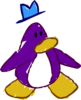Doodle Dimension penguin Purple hat