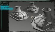 Tiberium War GDI Powerplant concept art