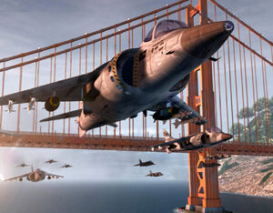 Harrier Strike Alcatraz