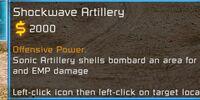 Shockwave artillery