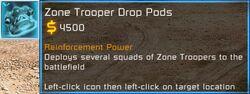 CNC3 TW GDI Zone Trooper Drop Pods