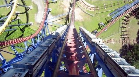 Mr Freeze Reverse Blast front seat on-ride HD POV Six Flags Over Texas