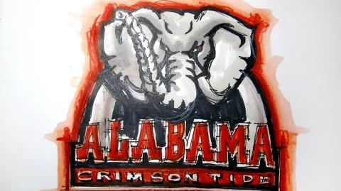 College Logo Series Alabama (Univ. of Alabama) Crimson Tide Time Lapse Drawing