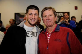 Steve-Spurrier+Tim Tebow