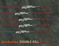 Sniped Zero lol