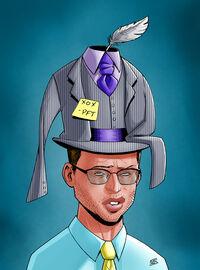 Four-piece hat
