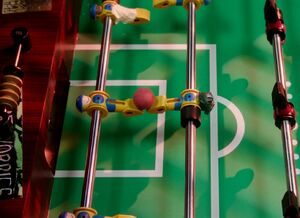 3X9 Foosball players