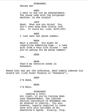 Abed and Mara script