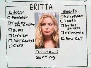 Britta likes function wants