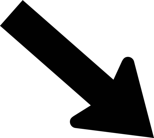File:Arrow diagonal down right.png