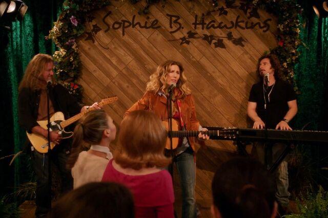 Sophie B. Hawkins sings