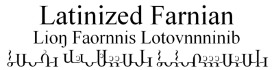 Latinized Farnian