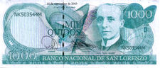 SanLorenzo-BankNote-1000Quidos