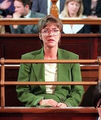 Deirdre in court