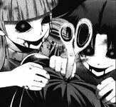 Yuki and ryou use scissor to kill shinichi