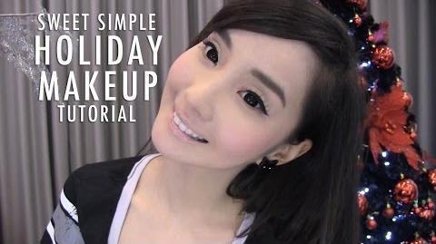 "Sweet Simple Holiday Makeup Tutorial (""No Makeup"" Look)"