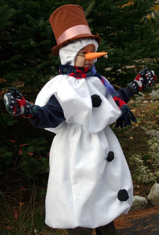 Костюм снеговика на взрослого как сделать