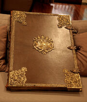Huge old book with clasps by barefootliam stock