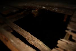 Hole in Barn Floor