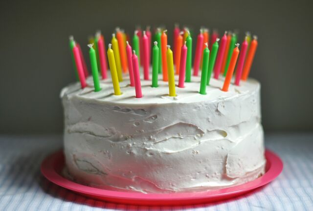 File:Colorful birthday cake.jpg