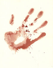 Bloody Hand Print Stock by Enchantedgal Stock
