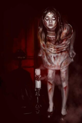 File:Creepy Girl Speedpainting by La SaGnE.jpg