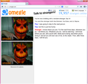 Omegle is a scary place