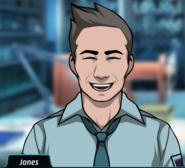 Jones happy