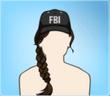 FBI Cap Brown Plait
