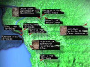 Bike Rapist Map