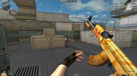 Cross Fire China -- AK47-Knife Yellow Crystal TC!