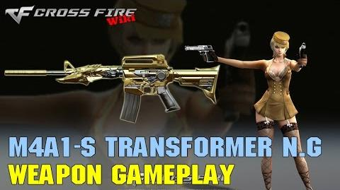 CrossFire - M4A1-S Transformer Noble Gold - Weapon Gameplay