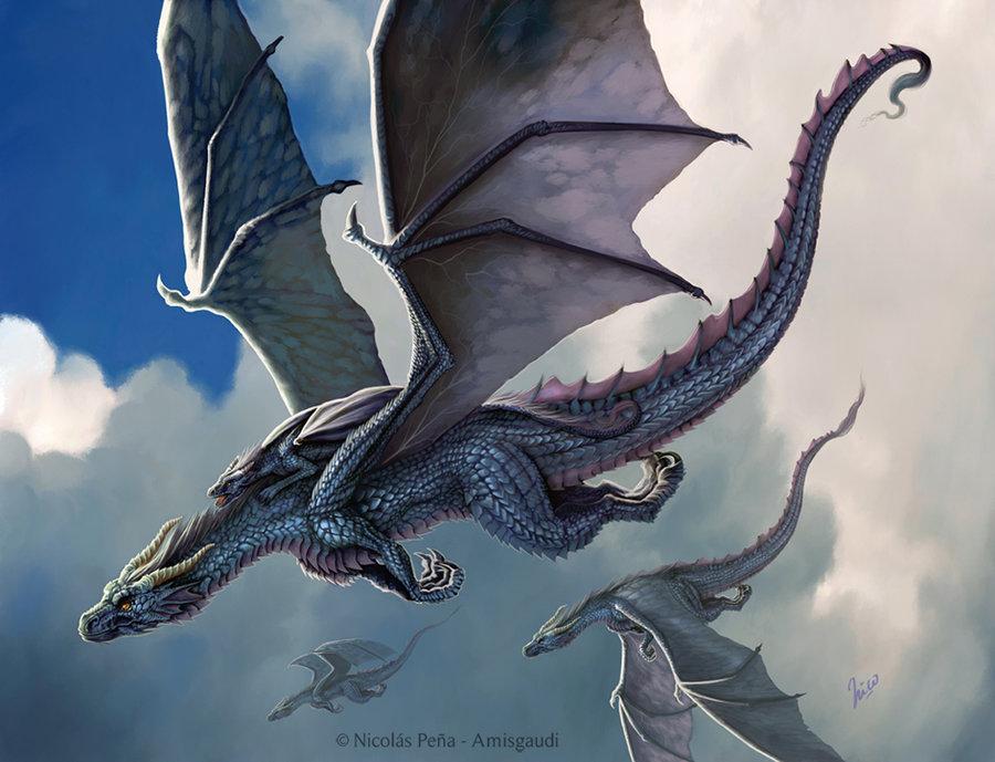 Blue dragon by amisgaudi-  Dragon
